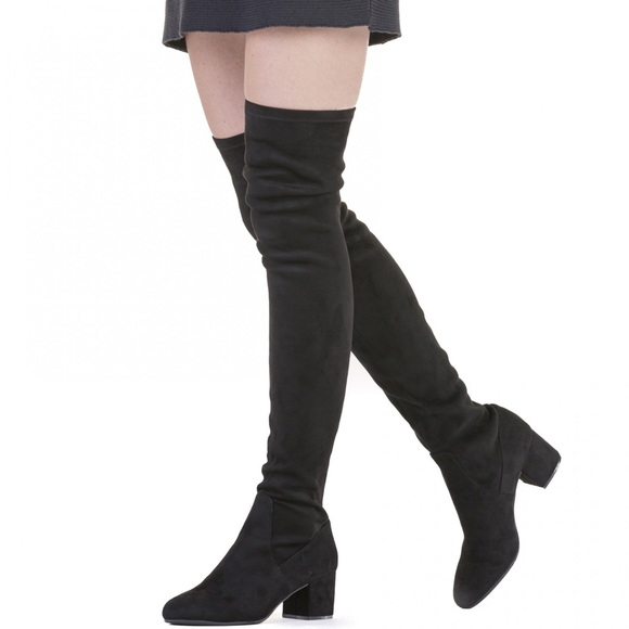 52cc1959108 Steve Madden Black Isaac Over The Knee Boots 8.5. M 5b280c87fe5151f61fc72b86